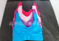 Wholesale seamless microfiber pullover for sale - Group buy Sexy Underwear Seamless Ladies ahh Bra Sizes Sport Yoga Bra Microfiber Pullover Bra Body Shape colors size