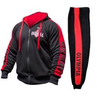 9f16a5f11 Wholesale men running hoodies online - Sweatshirt Men Tracksuit Men Set  Sweat New Brand Autumn Winter
