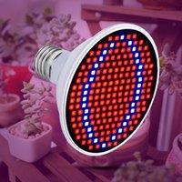 lampe 24v 15w achat en gros de-AC85-265V LED élèvent la lumière pour les plantes E27 Lampe 220V Full Spectrum Ampoule 20W 15W 6W Intérieur Cultivez Tente Box Semis 110V Bombillas B22