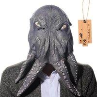 ingrosso decorazione cosplay-HD Octopus Mostro Maschera per maschere di Halloween del partito di travestimento di lattice Animale Halloween Cosplay Decor
