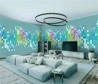 papel de parede quadrado 3d venda por atacado-Casa cheia fundo parede quadrados áudio abstrato minimalista HD 3d papel de parede decoração