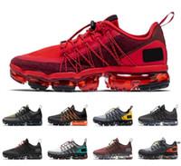 kentsel spor ayakkabıları toptan satış-2019 Run Yardımcı Erkekler Kadınlar Koşu Ayakkabı Çin Yeni Yıl Üçlü Siyah Kentsel Sıçrama BURGUNDY CRUSH Mens Trainer Nefes Spor Sneakers