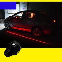 espelho retrovisor venda por atacado-Yentl luz do laser do carro porta bem-vindo espelho retrovisor lâmpada de projeção de luz de advertência da palavra de conversão luzes decorativas honda toyota ford