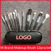 Wholesale quality brand tools for sale - Group buy Hot M Brand Makeup Brush set Blush Brush Eyebrow Blush Makeup Tools Goat Hair make up brush high quality