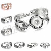 bracelets de fleur de diamant achat en gros de-Nouveau Femmes Bracelets Motif De Fleurs Bracelet Boucle Bracelet Dernier Bouton Bracelet Alliage Diamant Décoratif Bracelet T9C0055