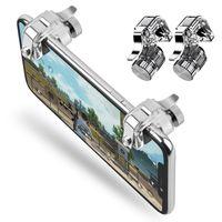 telefon için gamepad toptan satış-Telefon Gamepad Tetik Yangın Düğmesi Amaç Anahtar Akıllı telefon Cep Oyunları L1R1 Shooter Denetleyicisi PUBG V3.0 Iphone Xiaomi için