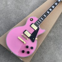 Wholesale electric guitar pink for sale - New CUSTOM SHOP LP standard custom electric guitar Rosewood fingerboard pink color guitarra