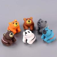 ingrosso fare miniature-Ornamenti bambola a forma di orso fai da te Carino arti fatti a mano in PVC e artigianato per torta Figurine in miniatura Decorazione forniture 1 4dd BB