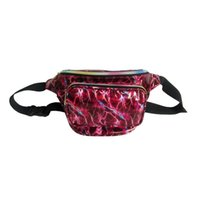 Wholesale waist packs online - Women Rainbow Sandbeach Waist Bag Laser Transparent Waist Pack colorful types Unisex outdoors travel small bag QQA356