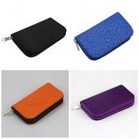 memória do saco venda por atacado-Cartões de memória Bolsa de Cor Sólida 22 Slot Com Zíper SD Micro Sacos De Cartão Bolsa De Moeda Portátil Breve 4 8cp E1