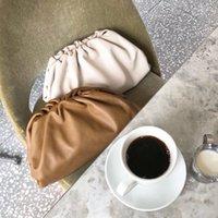 grande saco marrom escuro venda por atacado-Popular Escuro Dia Verde Embreagem Festa À Noite Grande Grande Ruched Sacos De Travesseiro Branco Bolsa Bolsa Hobos Bolsa de Ombro Marrom