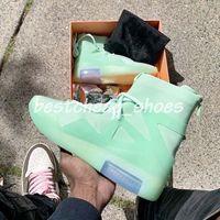 zapatos de baloncesto de color naranja al por mayor-Fear Of God 1 Orange Pulse Frosted Spruce Air Hombre Diseñador Zapatos para hombre Zapatillas Niebla Botas Deportes Baloncesto Zoom Zapatillas de deporte Tamaño 12