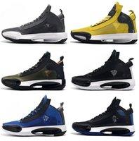 en iyi atletik erkekler spor ayakkabıları toptan satış-2019 erkek XXXIV PF J34 Mavi Void Bred Basketbol Ayakkabı Eğitim Sneakers erkekler kadınlar botlar için koşu ayakkabıları atletik iyi spor eğitmenleri