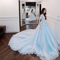 Wholesale wedding dresses turkey for sale - Group buy New robe de mariage O neck Real Photos wedding dress turkey Luxury Cathedral Train princess Wedding Dress
