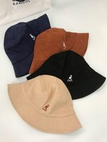 Wholesale caps for sale - Group buy Men s designer kangol kangaroo fisherman basin bucket cap corduroy to oneDR3573