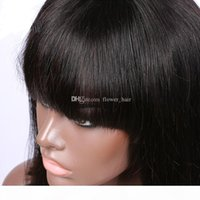 Wholesale factory bang resale online - Factory Price Glueless Lace Front Human Hair Bob Wig Full Lace Short Wigs For Black Women Short Wig With Bangs