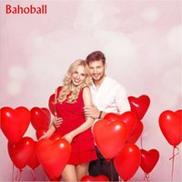 Wholesale red latex balloons resale online - 1000pc Red Pink Balloons inch Love Heart Latex Balloons Wedding Helium Balloon Valentines Day Birthday Party Inflatable Balloons