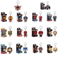 Wholesale asian fashion model for sale – dress Hot sale The Avengers keychain PVC Captain America Toys Models pendant fashion spiderman bags pendant