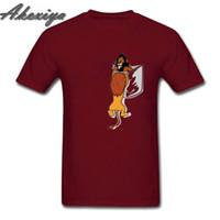 simba aslanı toptan satış-Komik tasarım Cep aslan Kral erkekler T Gömlek adam Kısa Kollu Crewneck Mufasa Simba Tshirt 2019 Yeni Yaz moda hipster Tee Tops