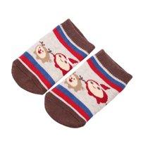 детские тапочки для новорожденных оптовых-1 Пар Рождество XMAS детские младенческой носки новорожденных хлопок мальчиков девочек противоскользящие Kawaii противоскользящие малышей тапочки носки