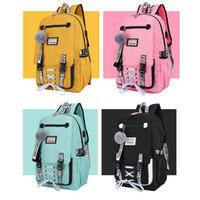 kızlar için üniversite çantaları toptan satış-Dropship Büyük Genç Kızlar Için Okul Çantaları Usb Kilit Anti Hırsızlık Sırt Çantası Kadın Kitap Çantası Lise Çantası Gençlik ...