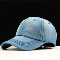 chapéus de jeans venda por atacado-Boné de beisebol Das Mulheres Pai Snapback Caps Homens Marca Homme Chapéus Para Homens Falso Osso Denim Jeans Em Branco Gorras Casquette Simples Pai Cap Chapéu