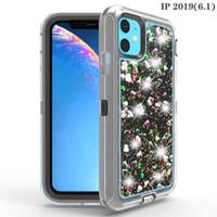 iphone schwimmender glitterfall großhandel-Für iphone 11 Pro X XS XR MAX 8 7 PLUS Fall Fließen Flüssig Schwimmdock LuxuxBling Funkeln-Schein-TPU Stoßfall für Samsung S9 Plus-Note 9