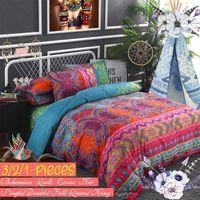 Wholesale oriental bedding sets queen resale online - Luxury Bohemian Oriental Mandala Bedding Set Pillowcase Duvet Cover Set Optional Flat Sheet Twin Queen King Size