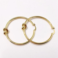 Wholesale new copper earring online - New Big Circle Hoop Earrings For Women Bohemian Bridal Party Jewelry Gold Copper twist knot Earrings Wedding Jewelry Fashion Accessories cm