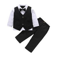 jungen burgundische anzüge groihandel-kleine Jungenkleidung Jungenkleidung Kleinkind-Jungenkleidung Jungen-Kleidungs-Satz-Jungen passt Hemd + Shorts Kleinkind-Satz-Kind-Ausstattungen an
