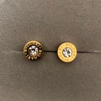 ingrosso estate degli orecchini di modo-Top deluxe Brand Design uomo mini argento oro rosa diamante Stud orecchino gioielli 3 colori orecchini per le donne degli uomini del partito di modo di estate vendita calda