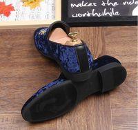 payetli elbise ayakkabıları toptan satış-Erkekler Glitter Yeni Erkek Moda AX532 Ayakkabı Sürüş Casual Flats Erkek Tasarımcı Elbise Ayakkabı payetli Loafers Mens Platformu baskı Ayakkabı
