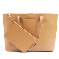 Wholesale fashion bag pu leather set resale online - Fashion Handbags Purses Women Bags Travel Leather Zipper Handbag Bag Accessories Female Tote Bag Wallet set