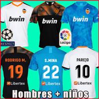 trikot blau 19 großhandel-19 20 Valencia Fußballtrikots PAREJO 2019 2020 Valencia CF RODRIGO Fußballtrikot MINA Trikot GAYA GAMEIRO Fußballtrikot