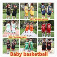 conjuntos de camisas de basquete venda por atacado-2019 warrio Paris kit de crianças Desgaste do Basquetebol CARTER James Westbrdok Faculdade Lillard Jersey Conjuntos de Basquete