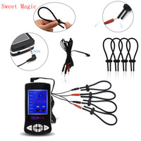 Wholesale electro sex game for sale - Group buy SM Erotic Play Electro Shock Penis Ring Sex Toys Electric Cable Adjust Cock Rings Stimulation Medical Themed Sex Toys For Adult Games