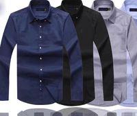 ralph tişörtleri toptan satış-Erkek Tasarımcı Elbise Gömlek Kaliteli İş Tişört Pony Nakış Marka Beyaz Gömlek Ralph Lauren Lüks Erkekler Gömlekler