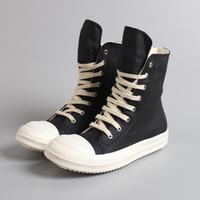 ingrosso scarpe da ginnastica sapato-Taglia 35-46 Sneakers alte Hip Hop uomo Scarpe casual Scarpe amanti Tenis Sapato Masculino piattaforma retrò Scarpe da ginnastica Scarpe con cerniera