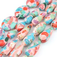 браслет с каплями воды оптовых-Colorful Oval Water Drop Stone  Loose Stone  For Jewelry Making DIY Women Charms Bracelet Necklace 15 inch Wholesale