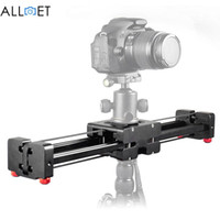 Freeshipping Black DSLR Camera Video Slider Dolly 50cm Track Rail Stabilizer 100cm Sliding Distance for Canon Nikon Sony Stabilizers