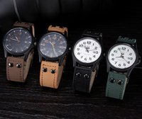 Wholesale holiday watches for sale - Group buy Fashion Brand SOKI Mens watch Cool mans clock Men s Date Leather Strap watches Sport Quartz Clock Military Vintage Classic Men Wristwatch