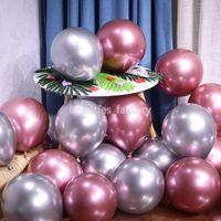 qualität halloween dekorationen großhandel-100pcs metallischer Latex-Ballon 12