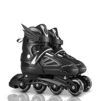 jungen skating schuhe groihandel-Adjustable Size Inline Skates Shoes For Kids Boy Girl 4 Wheels Roller Skates Children Roller Skating