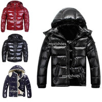Wholesale men hats styles resale online - Top quality Winter jackets down hooded down jacket women and men pattern down coat mens zippers warm parka outdoor coats style to choose
