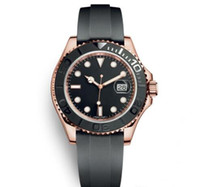 Wholesale big rose watches for sale - Group buy Mens Sport Watches YACHT Rubber Strap Runaway Wristwatch Rose Rold MASTER Automatic Movement Mechanical Mens Designer Big Dial mm