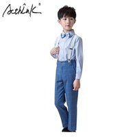 erkek takım elbise smokinleri toptan satış-ActhInK Yeni Varış 2 Adet Erkek Ekose Pantolon Takım Elbise Erkek Sonbahar Smokin Okul Üniforma Takım Genç Parti Giyim Seti