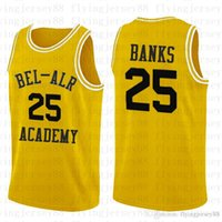 ingrosso aria di banca-Top 25 Carlton Banks Fresh Prince of Bel-Air 14 Will Smith Jersey Versione Bel-Air Academy Movie Jersey Verde Giallo Ricami Loghi 11
