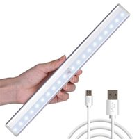 Wholesale led bar lamp rechargeable for sale - Group buy LED Cabinet Light Motion Sensor Detector Wireless PIR Rechargeable Closet Lights USB Kitchen Stair wall lamp Bar Cupboard Wardrobe Lamp