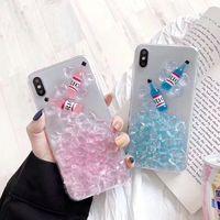 iphone kekleri toptan satış-Renk Fantezi TPU sevimli renkli cep telefonu kılıfı İçecekler Şarap 3D Buz Kek Telefon Kapak iphone 7 8 ARTı XR X MAX