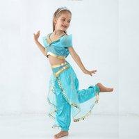 ingrosso abiti da ballo di pancia-Costume da principessa per bambini Costume magico Lampada per bambini Danza del ventre India Abiti da ballo con paillettes Post Child Role Playing Costume di scena